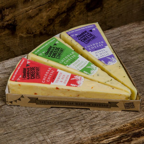 Cheddar Gorge Flavoured Three Cheese Selection
